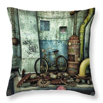 Dark Places Tell Stories Throw Pillow by Jutta Maria Pusl