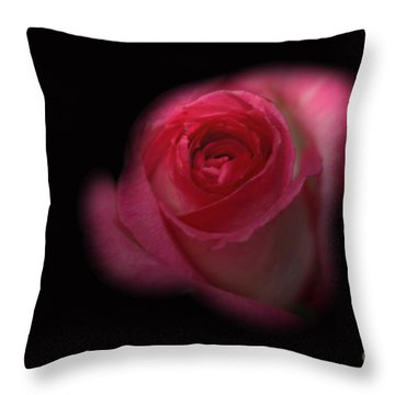 Throw Pillow featuring the photograph Dark Rose by Michael Waters