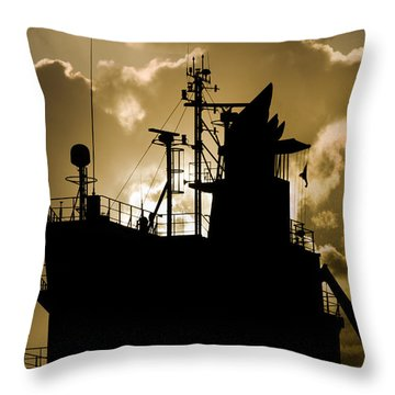 Dark Superstructure Throw Pillow