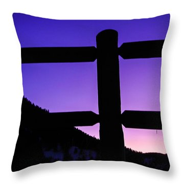 Throw Pillow featuring the photograph Darkening Sky by Shannon Harrington