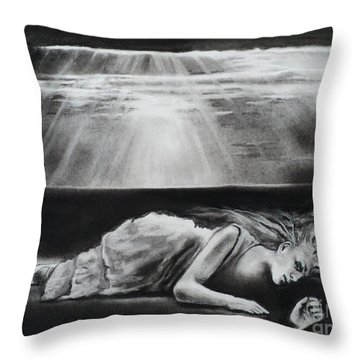 Darkness Falls Upon Me Throw Pillow by Carla Carson