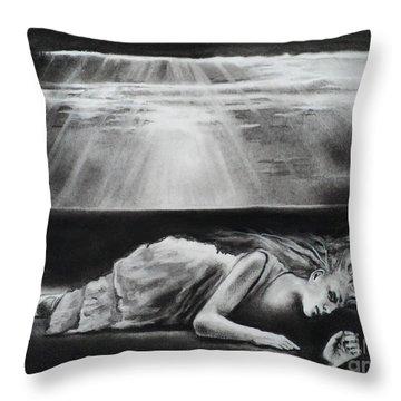 Darkness Falls Upon Me Throw Pillow