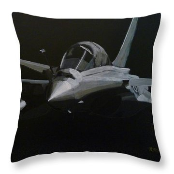 Throw Pillow featuring the painting Dassault Rafale by Richard Le Page