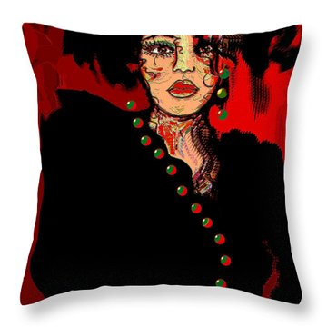 Date Night Throw Pillow by Natalie Holland
