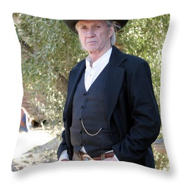 David Carradine Throw Pillow by Nina Prommer