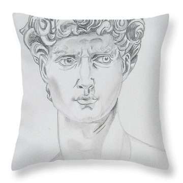 David Throw Pillow by John Keaton