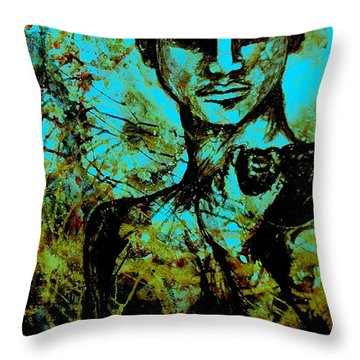 Throw Pillow featuring the painting David Ll by Amy Sorrell