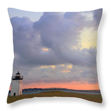 Dawn At Long Point Lighthouse Throw Pillow by Roupen  Baker