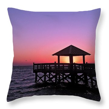 Throw Pillow featuring the photograph Dawn by Brian Wright