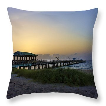 Throw Pillow featuring the photograph Dawn Is The Time by Anne Rodkin