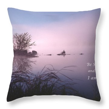 Dawn On The Chippewa River Throw Pillow