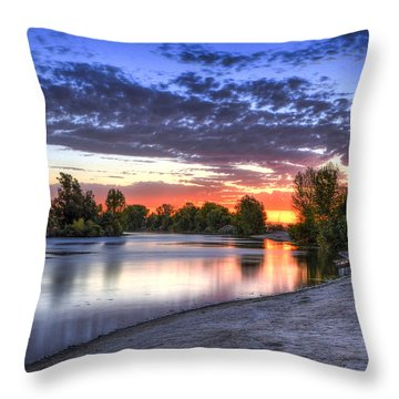 Throw Pillow featuring the photograph Day At The Lake by Marta Cavazos-Hernandez