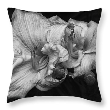 Day Lilies Throw Pillow by Eunice Gibb