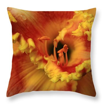 Day Lilly I Throw Pillow