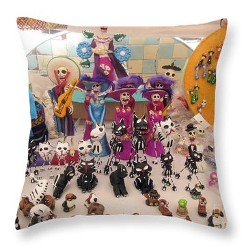 Day Of The Dead 4 Throw Pillow