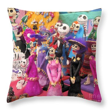 Day Of The Dead 5 Throw Pillow