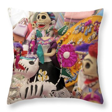 Day Of The Dead 7 Throw Pillow