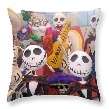 Day Of The Dead Collection Throw Pillow