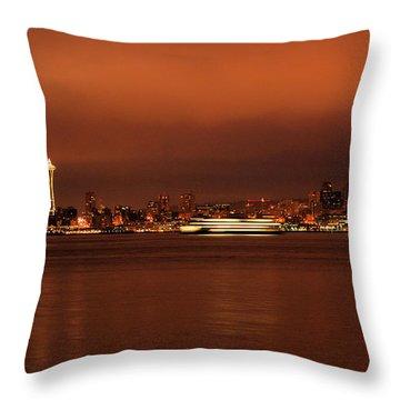 Daybreak Ferry Throw Pillow