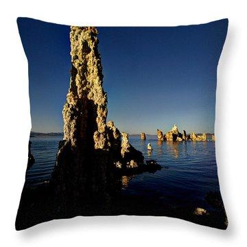 Daybreak On Mono Lake Throw Pillow by Joe Schofield