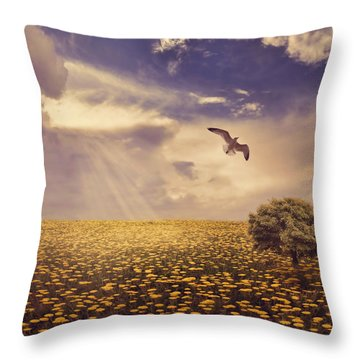 Daydream Throw Pillow by Lourry Legarde