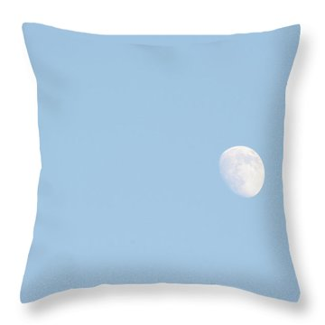 Throw Pillow featuring the photograph Daylight Moon by Michael Waters