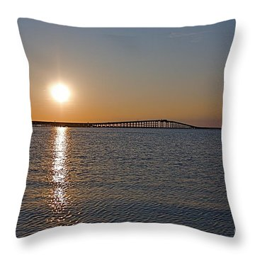 Day's End Throw Pillow by Nicola Fiscarelli