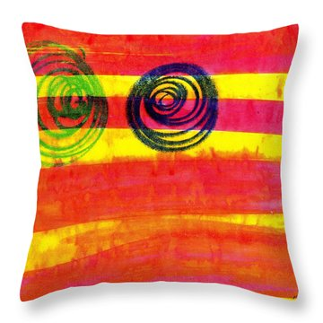 Dazed Throw Pillow by Patrick Morgan