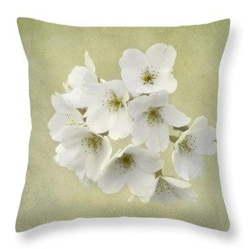 Dc Blossom Throw Pillow by Kim Hojnacki