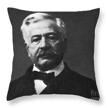 De Lesseps, French Diplomat, Suez Canal Throw Pillow by Photo Researchers
