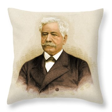 De Lesseps, French Diplomat, Suez Canal Throw Pillow by Science Source