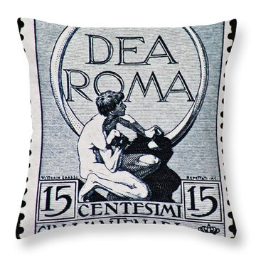 Throw Pillow featuring the photograph Dea Roma by Andy Prendy