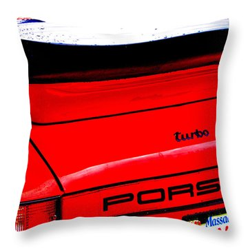 Throw Pillow featuring the photograph Dead Red Turbo by John Schneider