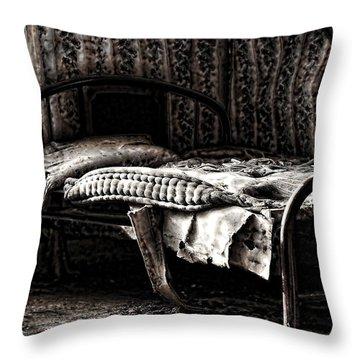 Dead Sleep Throw Pillow by Empty Wall