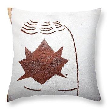 Deana - Tile Throw Pillow by Gloria Ssali