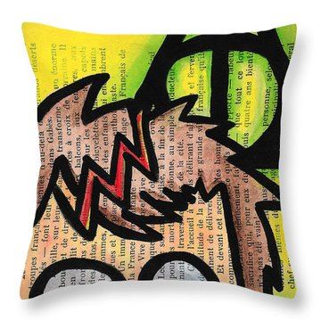 Deathly Hallows Harry Throw Pillow by Jera Sky