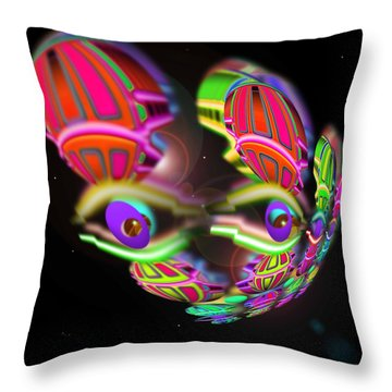 Debris Throw Pillow by Charles Stuart