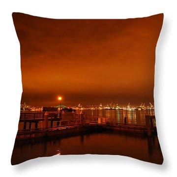 December Daybreak Throw Pillow