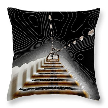 Throw Pillow featuring the digital art Decisions No. 3 by Paula Ayers