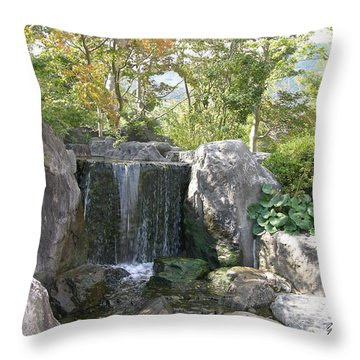 Deco Waterfall Throw Pillow by Yumi Johnson