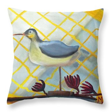 Decoy On A Stand Throw Pillow