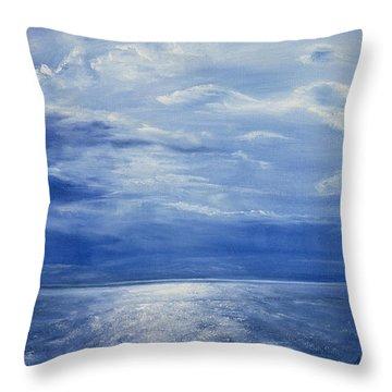 Deep Blue Sea Throw Pillow by Antonia Myatt