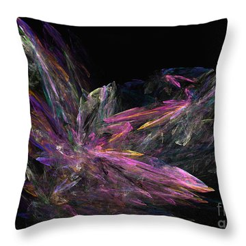 Deep Crystallization - Abstract Art Throw Pillow