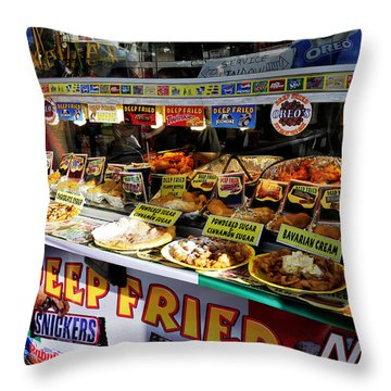 Deep Fried Throw Pillow by David Lee Thompson