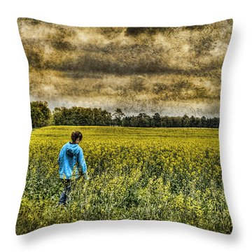 Deep In Thought Throw Pillow by Kathy Clark