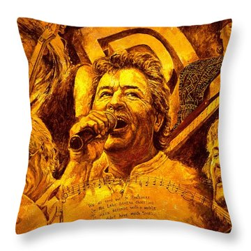 Deep Purple In Rock Throw Pillow