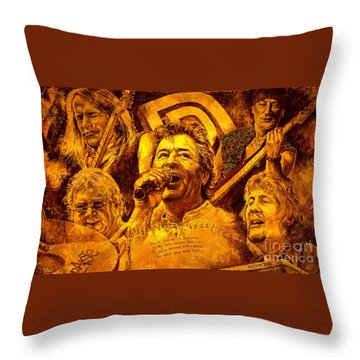 Deep Purple In Rock Throw Pillow