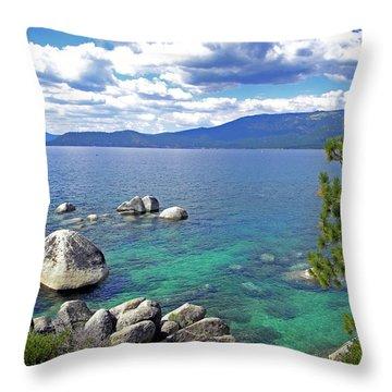 Deep Waters Lake Tahoe Throw Pillow