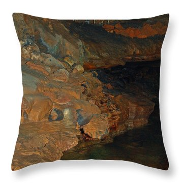 Deep Within The Earth Throw Pillow by DigiArt Diaries by Vicky B Fuller