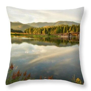 Throw Pillow featuring the photograph Deer Island Bridge by Albert Seger